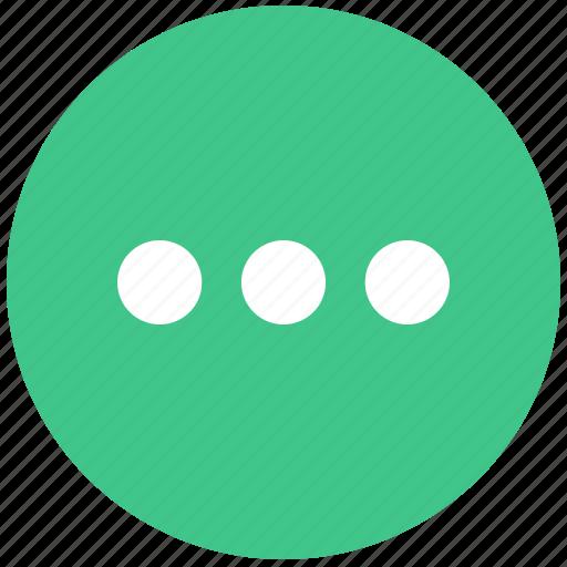 continue, more, more icon, options icon