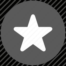 favorite, main, more, star icon