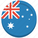 aussie, australia, australian, country, flag icon