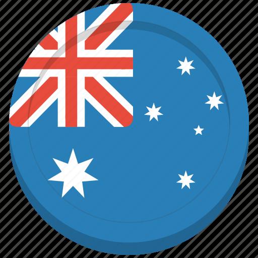 aussie, australia, australian, country, flag icon