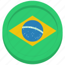brazil, brazilian, country, flag icon