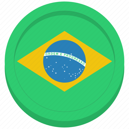 brazil, brazilian, country, flag icon