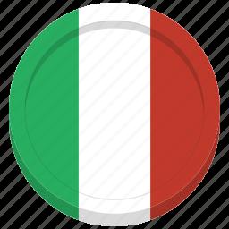 country, flag, italian, italy icon