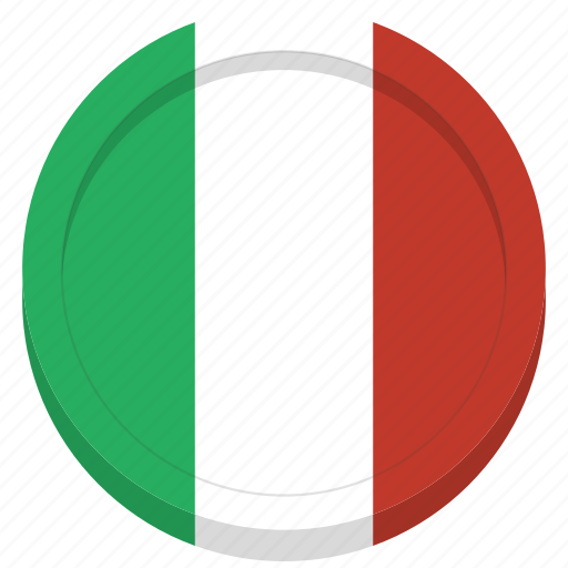 country, flag, italian, italy icon