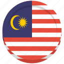 country, flag, malaysia, malaysian icon