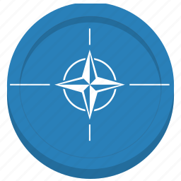 flag, nato, organization, world icon