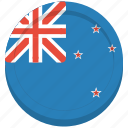 country, flag, kiwi, new zealand icon