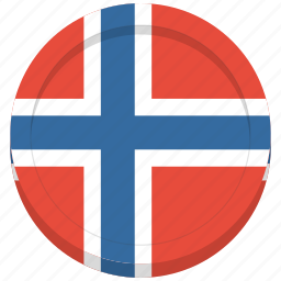 country, flag, norway, norwegian icon