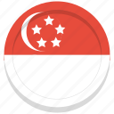 flag, singapore, country, national