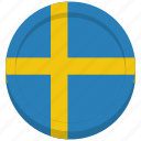 flag, scandinavian, sweden, swedish icon