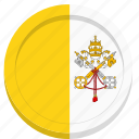 catholic, flag, pope, vatican icon