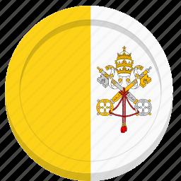 catholic, flag, pope, vatican icon