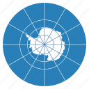 antarctica, continent, flag, location, map, navigation, treaty icon