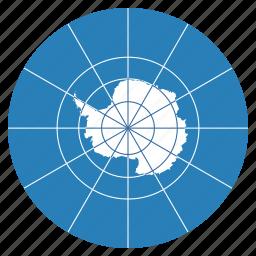 antarctica, continent, flag, location, map, navigation, treaty icon