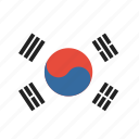 flag, country, korean, south korea icon