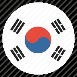 country, flag, korea, korean, national, south icon