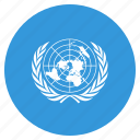 flag, nations, organization, un, united, united nations icon