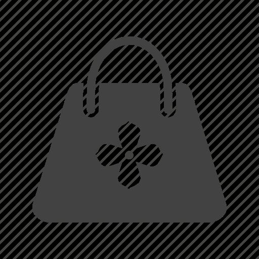 bag, hand bag, hand carry, holder, ladies bag, purse, travel icon