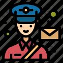 postman, mail, man, avatar, post