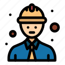 line, safety, worker icon