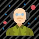 person, professor, science icon