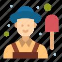 farmer, garden, male icon