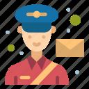 avatar, mail, man, post, postman icon
