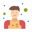 assistant, man, waiter icon