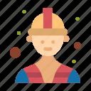 builder, labour, worker icon