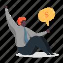 character, builder, man, finance, money, smartphone, business