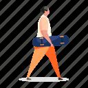 character, builder, man, skateboard, skating, activity, hobby