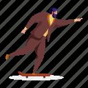 hobby, character, builder, man, skateboard, skating, activity