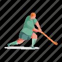 sports, character, builder, man, hockey, sport, game