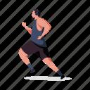 sports, character, builder, man, run, fitness, sport