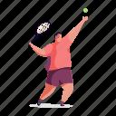 sports, character, builder, man, tennis, sport, racket