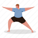 sports, character, builder, man, yoga, stretch, fitness