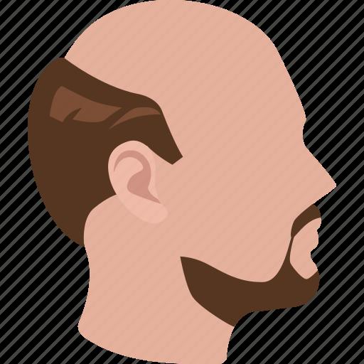 balding, friar tuck, hairline, horseshoe, male, man, middle-aged icon