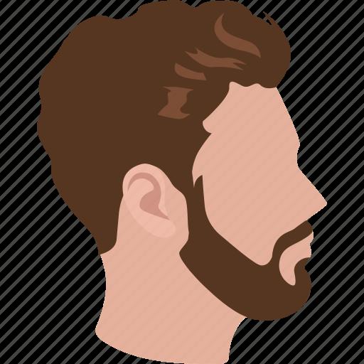 beard, hair, haircut, hairstyle, male, man, profile icon