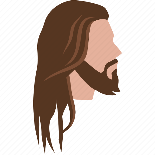 Style, cut, male, long, mens, hair, jesus icon