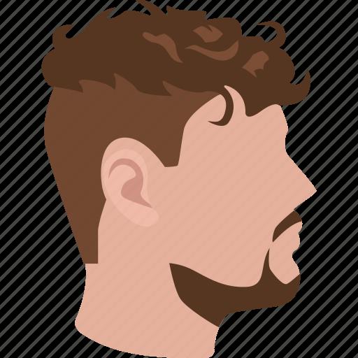 curly, hair, haircut, male, mens, perm, undercut icon