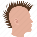 mohawk, haircut, punk, hair, rock, male, man