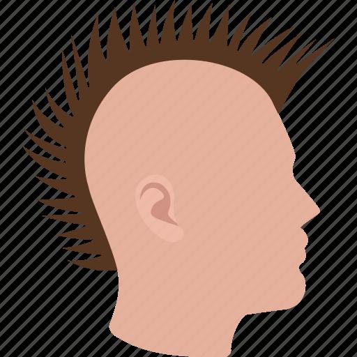 hair, haircut, male, man, mohawk, punk, rock icon