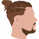 fashion, mens, hair, hipster, bun, braid, cornrows