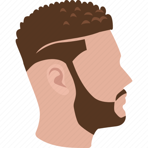 geometric, haircut, hairdressing, salon, shaved sides, side fade icon