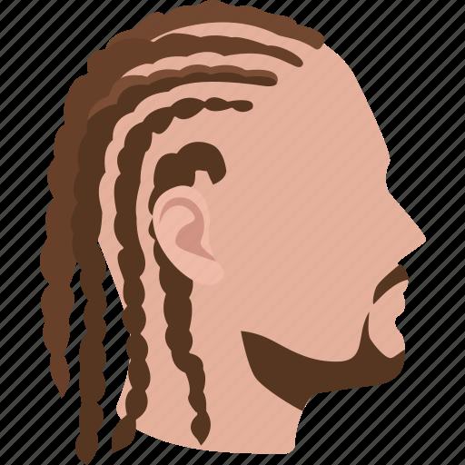 braided, braids, cornrows, dreadlocks, dreads, hair, hairstyles icon
