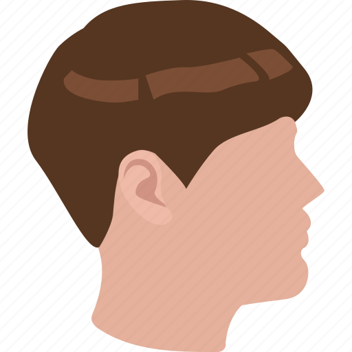 bangs, dome, haircut, hairstyle, male, monk icon