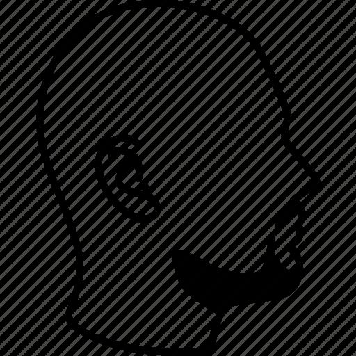 bald, default, head, male, man, profile, silhouette icon