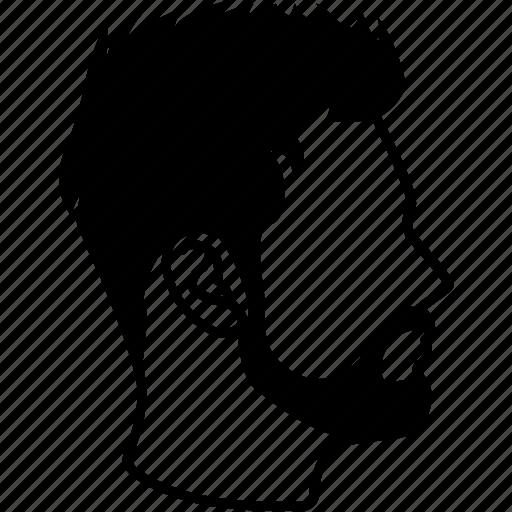 hair, haircut, hairdressing, hairstyle, male, mens, short sleek icon