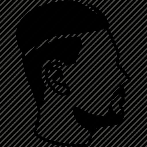 cut, haircut, male, men's, profile, salon, undercut icon