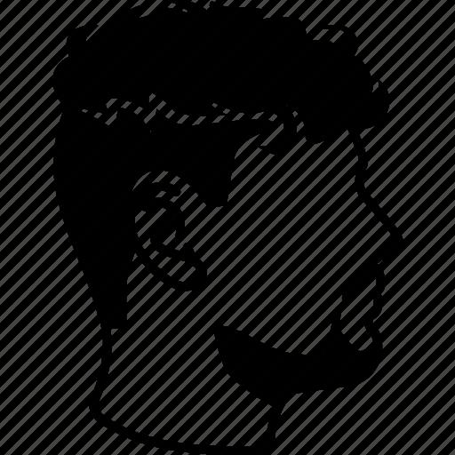 Undercut, curly, haircut, perm, mens, hair, male icon